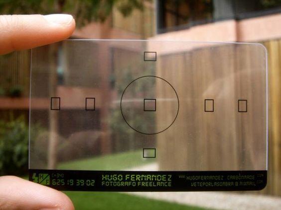 tarjeta de visita para fotógrafos