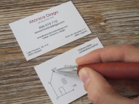 tarjeta de visita para arquitecto